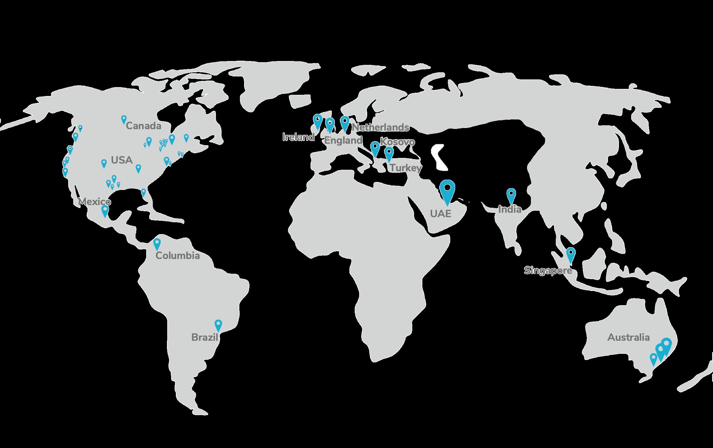 AgileBlue Global Partner Map