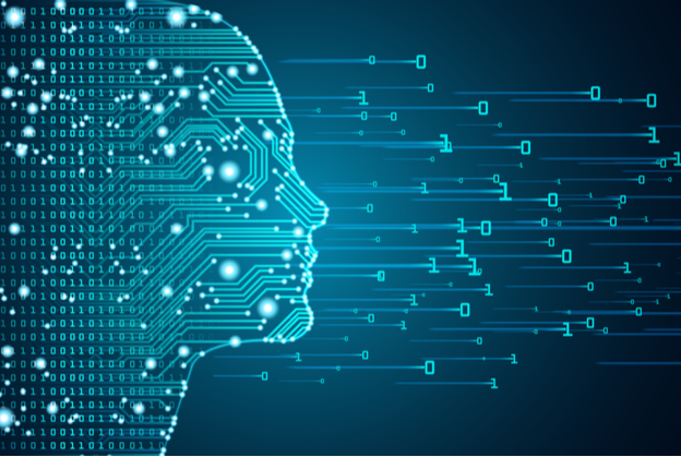 Electric grid forming a human face through artificial intelligence subfield Machine Learning